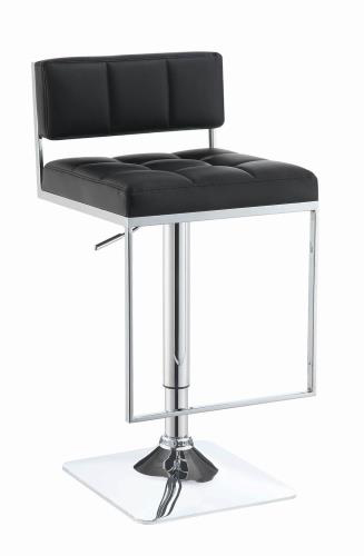 black adjustable square swivel stool
