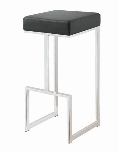 black padded stool